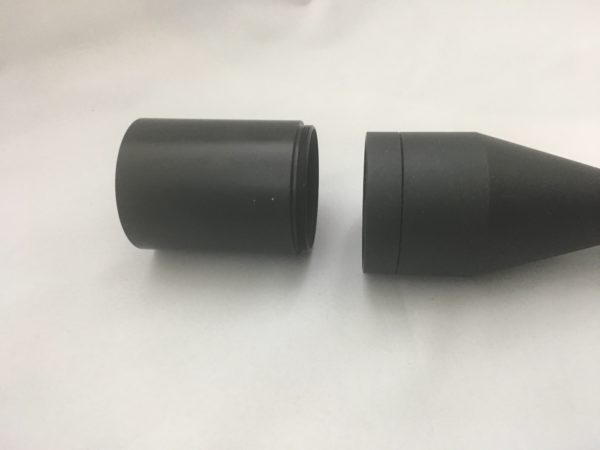 Sunshade extension for 50mm riflescopes